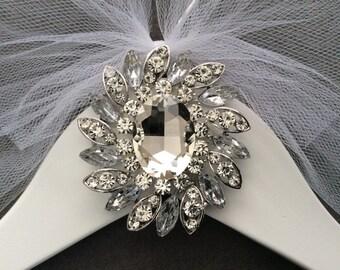Jeweled  Bridal Hanger, Personalized Wedding Dress Hanger, Wedding Hanger, Wedding Hanger