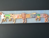 Jack Russell Brilliant Machine.  Original Wooden mixed media Assemblage.  Acrylic Painting with pencil and epoxy.