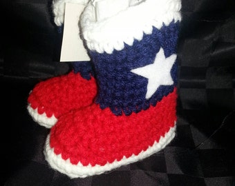Crochet Baby Cowboy Boots