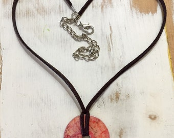 Custom made reversible pendant necklace