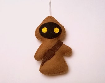 Felt Star Wars ornament - Jawa felt ornaments - Star wars - SW - Christmas/Housewarming home decor - May4th
