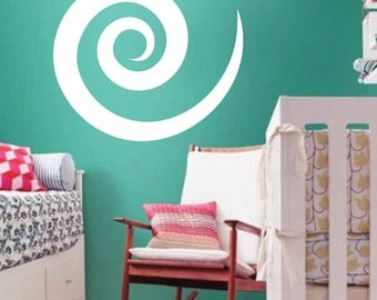 Cinnamon Swirl Wall Decal, Swirl Wall Decal, Cinnamon Wall Decal, Pattern Wall Decal, Removable Pattern Wall Decal, Swirl Wall Vinyl, a15