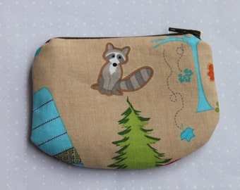 Racoon Zipper pouch, coin purse