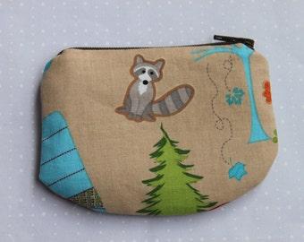 Racoon Zipper pouch, coin purse
