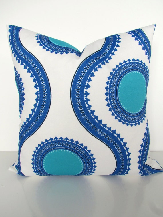 ROYAL BLUE OUTDOOR Pillows Blue Throw Pillow Covers Royal Blue