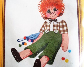Vintage Sunset Stitchery Embroidery Kit Carrot Top Boy NIP Retro 1977