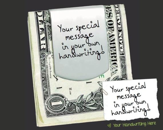 Handwriting Money Clip | Custom Money Clip | Handwriting Gift | Father Gift | Gifts for Dad | Groomsmen Gifts | Gift for Men | Korena Loves