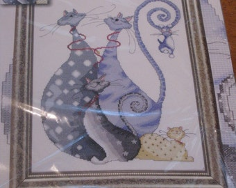 Cat Pack - Design Works Crafts - Counted Cross Stitch Kit