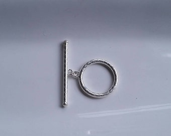 1 Set Extra Large HEAVY DUTY  Decorative 925 Sterling Silver Toggle 26mm Made in USA