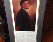 "Vince Lombardi ""What it takes to be number one"" 16 x 30 frame Framed Print"