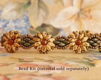 Picasso Daisies Beadweaving Bracelet Bead Pack - Tutorial Sold Separately - Beaded Bracelet Bead Pack
