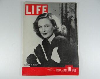 1944 Life Magazine Wartime Issue, August 7 ,  Geraldine Fitzgerald