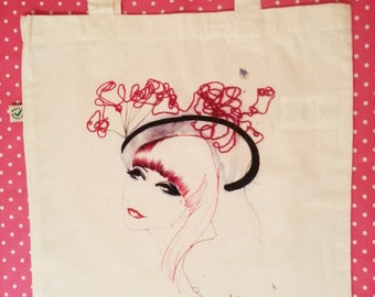 Limited Edition Organic Fashion Illustration Tote