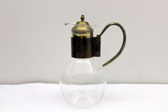 Vintage water coffee and tea pitcher heat proof glass - Heat proof pitcher ...