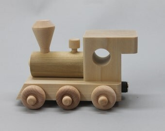 5 letter handcrafted, personalized child's wood name train