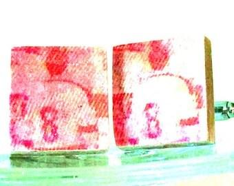 143: Hockey Tile CuffLinks