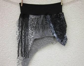 black festival skirt,elastic waist,medium size