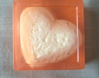 Peach Mango heart soap