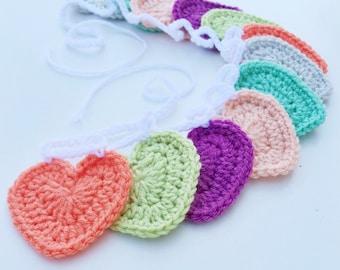 Crochet Mutli-Color Heart Banner/Garland