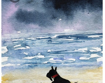 Scottie Dog Art Print Scottish Terrier 'Ocean' #29