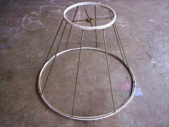 metal lamp shade lamp shade frame vintage wire by. Black Bedroom Furniture Sets. Home Design Ideas