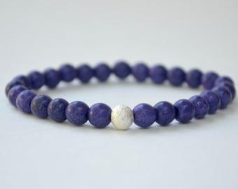 Purple and Stardust Stretchy Bracelet