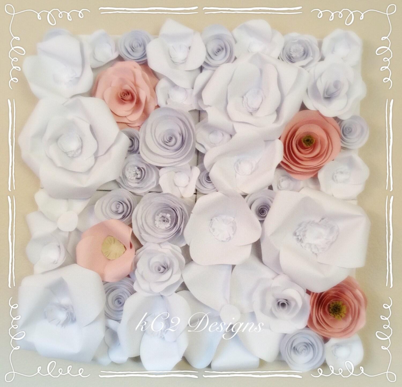 paper flower wall prom decor wedding decor paper flowers. Black Bedroom Furniture Sets. Home Design Ideas