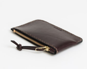 Luxe Zip Pouch - Dark Brown