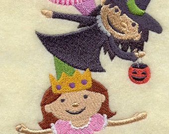 Trick-or-Treaters Stack (Girls) - 100% Organic Cotton Pillow Cover - Your Choice of Size & Fabric Color