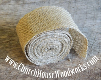 Jute Burlap Ribbon, 3 yards by 2.5 inches wide, Jute Burlap Trim Ribbon, Rustic Wedding decor, Burlap Supplies, Bows,