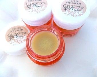 Organic UNDER EYE CREAM, Coffee Infused Caffeine Eye Cream, Handmade Eye Cream, Anti Puffy Eye Cream, Organic Eye Cream