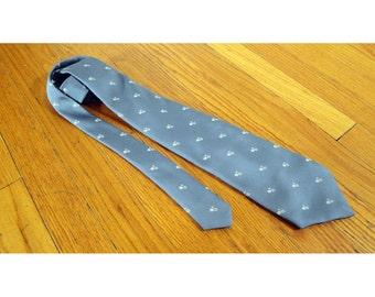 1980s Floral Tie