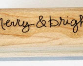 Merry & Bright Rubber Stamp retired from Stampin Up