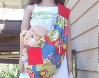 kids pet sling carrier.  kids beach bag