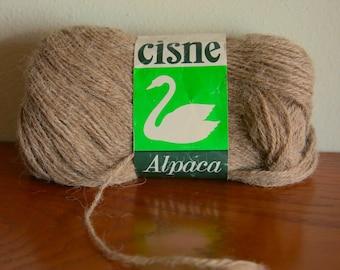 Cisne Pure Alpaca fine yarn in natural brown from Peru