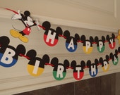 Mickey Mouse Clubhouse Birthday Banner with Age and Custom Name by FeistyFarmersWife