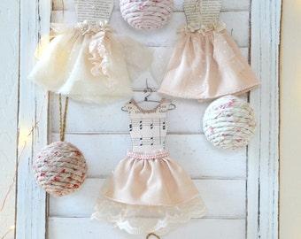 Shabby Chic Mini Dress / Shabby Chic Ornaments / Cottage Chic