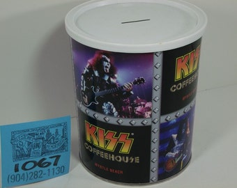 1990's Kiss Coffeehouse Can bank