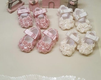 Floral Baby Shoes | Flower Baby Shoes | Dressy Baby Shoes | Pink Baby Shoes | White Baby Shoes | Red Baby Shoes | Toddler Shoes | Flowers