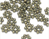8%OFF 120pcs 5mm Antique Bronze Daisy Spacer Beads Lead/Nickel FREE CHOOSE 4 or 5mm Antique Bronze,Antique Silver,Silver or Gold Combined Sh