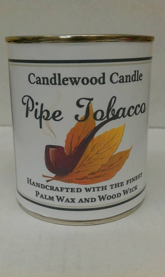 PIPE TOBACCO - Authentic Pipe Tobacco Wood Wick Candle 16 oz