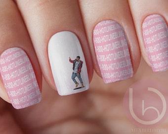 Nail art etsy drake waterslide nail decal nail design nails press on nail decal nail prinsesfo Images