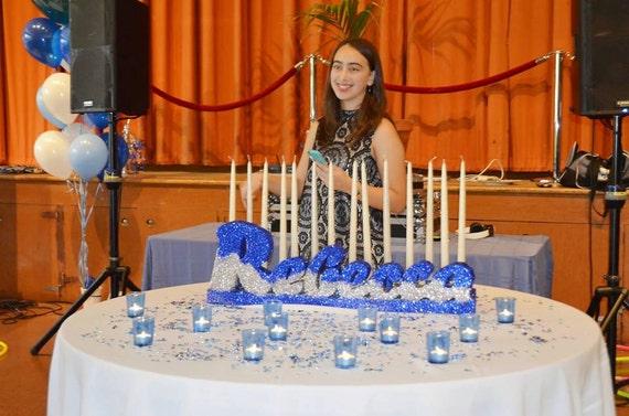 Bat Mitzvah Sweet 16 Candelabra Candle Lighting Ceremony