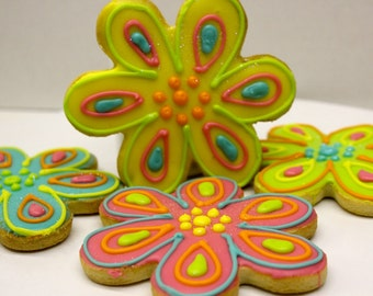 Flower Power-COOKIE-Fondant Icing