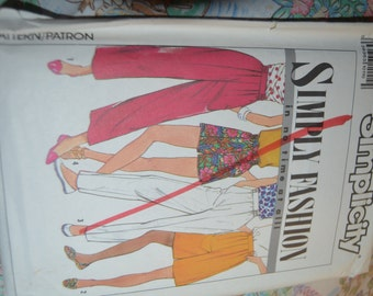 Simplicity 9625  Misses Pants and Shorts Each in Two Lengths Sewing Pattern - UNCUT - Sizes 6 - 14