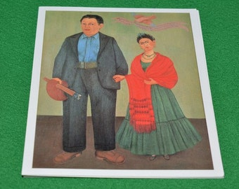 Card Frida (Frieda) KAHLO. Frieda and Diego Rivera, SFMOMA 1994