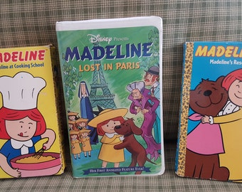 Rare Lot of 3 Madeline VHS Tapes Vintage