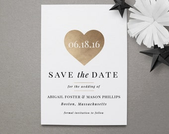 Wedding Save the Date Magnet - Gold Save the Date Magnet