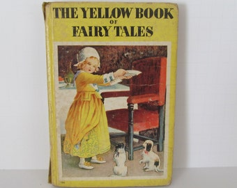 The Yellow Book of Fairy Tales Childrens Stories  Antique Childrens books Antique Fairy Tale Books