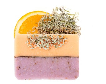 Lavender and Sweet Orange Soap, Handmade Soap, All Natural Soap, Soap Bar, Homemade Soap, Cold Process Soap, Olive Oil Soap, Vegan, 4-5 oz